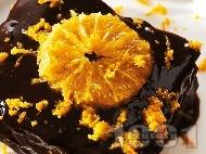 Бисквитена торта с шоколад и портокал